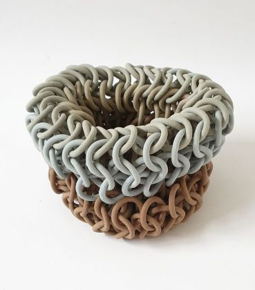 Nature series blue red stoneware