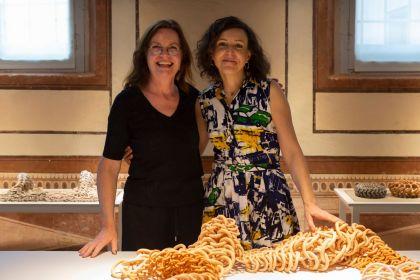 With Christiana Fissori, director Museo della ceramica Mondovi